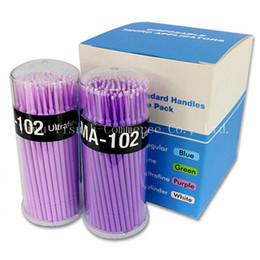 Wholesale Wholesale Black Glue Sticks - 1000pcs Disposable Eyelash Glue Solution Grafting Paste Special Cleaning Stick Cotton Mascara Brush Swab Cotton Tool