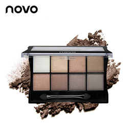 Wholesale Minerals Earth - 2016 New Arrival Top Fashion 20g Genuine Novo Eight Color Art Mineral Pearl Shimmer Eye Shadow Matte Plate Smokey-eye Make-up Earth Nude