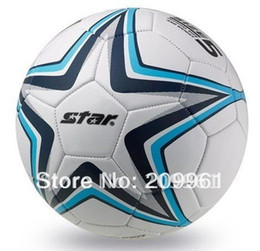 Wholesale Net Used - 2017 Free Shipping High Quality Men Kids Star Football Soccer Indoor Outdoor Use Standard 5#Soccer Ball Gift :Gas Pin Net Bag
