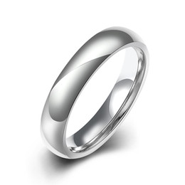 Wholesale middle east beauty - Classic Design Stainless Steel Ring Smooth Surface Men's or Women's Silver Ring Size 6-9 Wholesale Top Quality Beauty Simple Jewelry