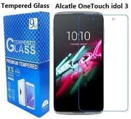 Wholesale Alcatel Hero - Tempered Glass Screen Protector For Alcatel U3 One Touch Pop C1 C3 4015 4016 Pop4 OT A50 Pulsemix Pixi 3 ALCATEL Pixi 3 4 Go Play Hero 2C
