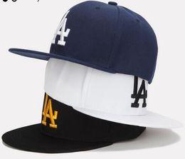 Wholesale La Snapback Hat Women - Ladybro LA Baseball Cap Men Women Snapback Cap Hat Female Male Hip Hop Bone Cap Black Cool 2017 Brand Fashion Street Adjustable