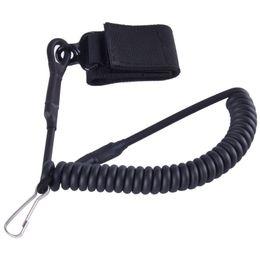 Wholesale Pistol Lanyard - SINAIRSOFT Adjustable Combat Sling Telescopic Tactical Pistol Hand Gun Secure Lanyard Spring Sling With Magic Tape Belt, Hanging Buckle Not