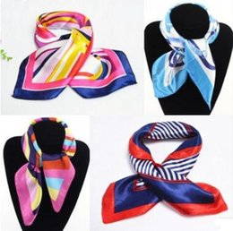 Wholesale Scarves Korea - 2017 new high-quality professional wear, mobile, telecommunications, flight attendants scarves, printing Korea gift scarf scarf MOQ 50 pcs
