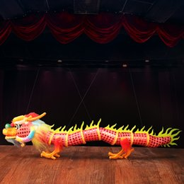 Wholesale Toy Dancing Dolls - Zhongguofeng carry line Puppet Pull line Doll lion dance south lion awakening tap toy gift Puppet dragon Gift Send friend
