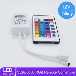 Wholesale Led Strip Track Light - Good Quality LED IR Controller 12V 6A 24 Keys IR Remote Controllers for 2835 3528 5050 RGB LED Strip Lights with tracking number