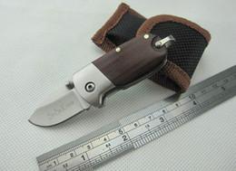 Wholesale Hand Folder - Small Keychain Folder EDC Pocket Wood Handle Hand Tool Folding Knives With Nylon bag Survival Tactical Knives F434L