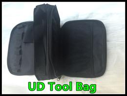 Wholesale Double Shoulder Strap - New Youde UD tool kit bag vapor Pocket clone Double-deck Vapor bag vape carry bag with Shoulder Strap UD Bag free shipping