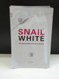Wholesale Snail Facial - Snail White Face mask Snail Secretion Filtrate Moisturek Carrian Filtrate Secretion Skin Care Acne Facial Moisture Mask #022