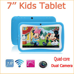 Wholesale Touch Screen Camera Games - 7 Inch Education & Game Tablet PC RK3126 For Kids Children Quad Core 512MB+8GB Dual Camera Android 5.1 WIFI Tablet PC