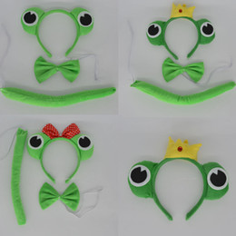 Wholesale Hair Accessories Carnival - Wholesale- Funny Boy Woman Animal Green Frog Prince Headband Hair Accessories Cosplay Carnival Party Hallowmas Christmas Children'Day