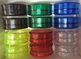 Wholesale Wholesale Dry Goods - good 60mm herb grinder 3 piece Tobacco Grinder for Smoking Acrylic Plastic Dry Herb Grinder Smoke Detectors Pope Smoking Pipes Grinders