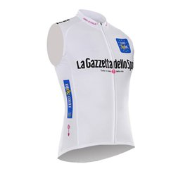 Wholesale Cheap Cycling Clothing China - New Cycling Jersey Vest Polyester Sleeveless Bike Clothing Racing Bicycle Tops Quick Dry Tour de France mountain china cheap clothes B1403