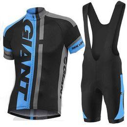 Kit de equipe curto on-line-NOVO Um Atacado-Gigante Ciclismo Jersey / bib manga curta ropa ciclismo Gian bicicleta roupas / homens equipe ciclismo kits + maillot mtb