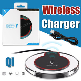Wholesale Nexus Wireless - Universal Qi Wireless Charger Pad Tablet Crystal Dock Charging For iPhone X 8 Samsung S8 S7 Note 8 LG Nexus 5 6 Nokia HTC With Retail Box