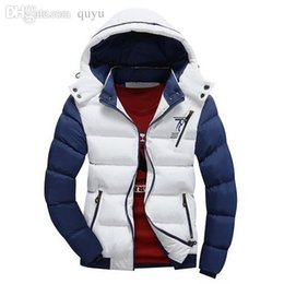 Wholesale Down Feather Jacket - 2016 Hot Sale Winter Mens Warm Down Jacket High Quality Thick Plus Size XXL Warm Winter Cotton-padded clothes Fashion Outdoor Free shipping