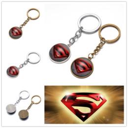 Colgante cadena superman online-Nueva cadena dominante DIY juguetes de dibujos animados Superman párrafo llavero regalo colgante equipaje accesorios mochila envío gratis B0373