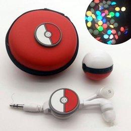Wholesale Headphones Cartoons - 2017 New Cartoon Portable Mini Led Music MP3 Player Kids Gift Telescopic Line of Headphones Bag Cable