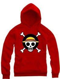 le hoodies di un pezzo di spedizione liberi di Monkey D Luffy ansimano i hoodies di un pezzo del anime del Giappone di colore