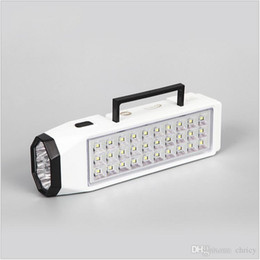 Wholesale Lamp 38 Led - portable LED Flashlight camping light Mini 38-LED Rechargeable Emergency Light Lamp High Capacity LED emergency light