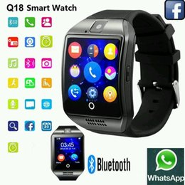 Wholesale Gps Fashion - Universal Fashion Q18 Anti Lost Smartwatch Bluetooth Touch Screen Smart Wrist Watches For Android Phone with Camera TF Card NFC Connection