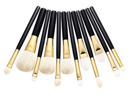 Wholesale Eyebrow Concealer - 5pcs 7pcs 12pcs Pro Makeup Brushes Blusher Eyeshadow Foundation Concealer Cosmetics Brush Goat Hair Eyebrow Powder Beauty Tools