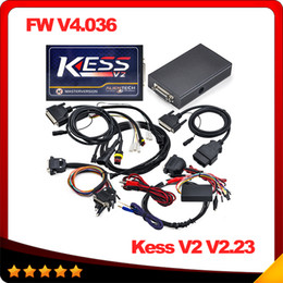 Wholesale Programmer For Ecu - 2016 Newest KESS V2 V2.23 OBD2 Manager Tuning Kit NoToken Limit Kess V2 Master FW V4.036 Master version free ship