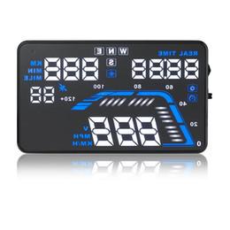 "Wholesale Car Hud Head Up - Universal Q7 5.5"" Auto Car HUD GPS Head Up Display Speedometers Overspeed Warning Dashboard Windshield Project"