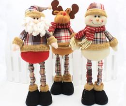 Wholesale Medium Stuffed Animals - Christmas Santa Claus Reindeer Snowman Plush Doll 14-19Inch Adjustable Stuffed Window Dispaly Toys Santa Christmas Decorations Gift 36pcs