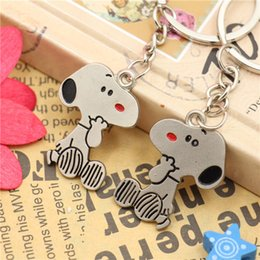 Wholesale trendy antique ring - Snoopys Peanut Dog Keychain Keyring Key Cute Creative Gift Lovers Key Ring Couple Keychain Rings Snoopy advertising
