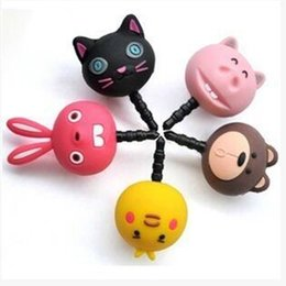 Wholesale Very Earphone - New Fashion style Popular and colorful very lovely three-dimensional cartoon animals for mobile phone dust plug