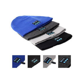 Wholesale Music Bowl - HOT SALE New Chirstmas gift Bluetooth Music Hat Soft Warm Beanie Cap with Stereo Headphone Headset Speaker Wireless Microphone DHL free