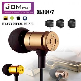 Wholesale Earphone B - Original Earphones JBM Bullet Earphone Heavy Metal In-Ear Headset Phone Earphones For iphone samsung xiaomi mobile phone PC MP3 MP4 +B