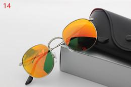 Wholesale Golden Burst - Wholesale 10   pcs burst high quality designer fashion glasses men and women models metal frame glass lenses HD retro sunglasses