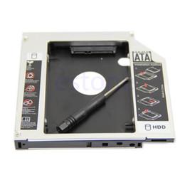 пластиковый футляр для жесткого диска Скидка Новый универсальный 12,7 мм PATA IDE для 2-й SATA HDD жесткий диск Caddy модуль