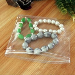 Wholesale Clear Necklace Bags - 100Pcs  Lot 9*13cm Self Seal Anti-oxidation Jade Soft Plastic Pack Pouch Clear PVC Antitarnish Necklace Cosmetic Zipper Top Bag