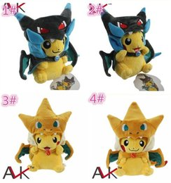 Wholesale Video Game Center - 100pcs 4designs Poke Center Mega Tokyo Pikazard Pikachu Charizard Magikarp Brinquedo Plush Toys Stuffed Doll plush toys gifts D859