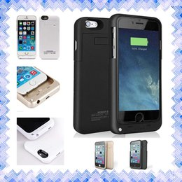 """Wholesale External Battery Silver - External Battery Backup Power Bank Charger Cover Case Powerbank case for iPhone 6 6s Plus 4.7"""" 5.5"""" inch"""