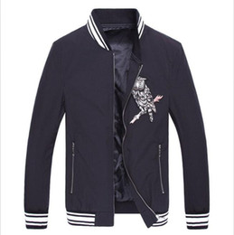 Wholesale Flying Owls - Free Shipping 2016 New Arrival Summer Men's Thin Style Owl Flying Suit Jacket Famous Design jackets Baseball Uniform Mens Casual Jacket