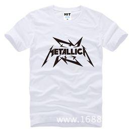 Wholesale Hard Metal Band - WISHCART Metallica hard metal rock band Men's T-Shirt T Shirt For Men 2015 New Short Sleeve Cotton Casual Top Tee Camisetas Masculina