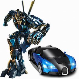 Wholesale-2 in 1 Transformation 2.4G RC Remote Control Deformation Robot Car Rechargeable RC Car Toys от
