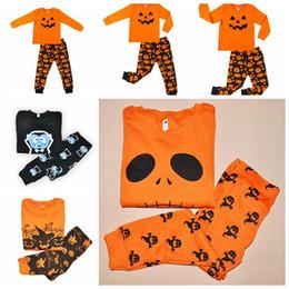 Wholesale Pumpkin Costume Baby - 4 Designs Halloween Costume Baby Leisure Wear Clothing Sets Toddler Pajamas Suit Pumpkin Children Househeld Sleepwear 2pcs set CCA7055 20set