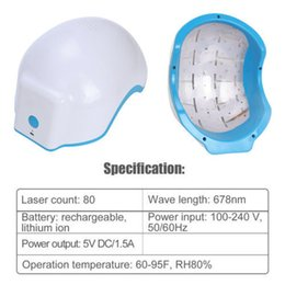 Wholesale Laser Hair Loss - Laser Hair Loss Regrowth Growth Infrared Treatment Cap Helmet Anti-hair Removal Therapy Alopecia 80 Diodes Beauty Instrument