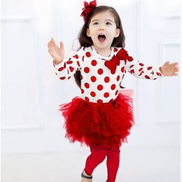 Wholesale Leopard Toddler Coat - New children's clothing fashion dot bitter fleabane bitter fleabane skirt suit Children's wear Toddlers Outfits Baby Sets Girl Suit Kids