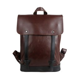 Wholesale Vintage Phone Book Cover - New Design 2015 Famous Brand Men Daily Backpack College School Book Bag Genuine leather Bag Travel Bolsa Feminina CTT119