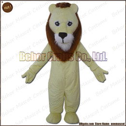 Wholesale Orange Lion Costume - lion mascot costume EMS free shipping, cheap high quality carnival party Fancy plush walking lion mascot cartoon adult size.