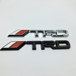 Wholesale Trd Emblems Stickers - 3D Racing Car Badge Sticker Styling TRD Side Logo Car Rear Trunk Decals Emblem Sticker For Toyota
