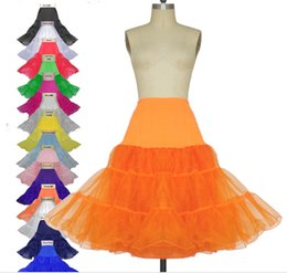Wholesale Cheap Clothes Stock - Real Picture Candy Color Over Knee Organza Lolita Skirts For Adults Stock Cheap Crinoline Clothing Petticoat Skirts