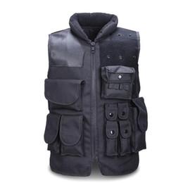 2019 chaleco negro airsoft Chaleco táctico de los hombres de caza del ejército Molle Airsoft chaleco armadura del cuerpo al aire libre Swat combate Painball chaleco negro para los hombres chaleco negro airsoft baratos
