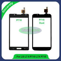 Wholesale Lg L7 P713 - Touch Screen For LG Optimus L7 II P710 P713 L7X P715 P716 Digitizer Sensor Front Glass Lens Panel High Quality Phone Parts